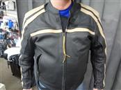 TOURMASTER COASTER MOTORCYCLE JACKET SIZE MEDIUM (BLACK/TAN LEATHER)